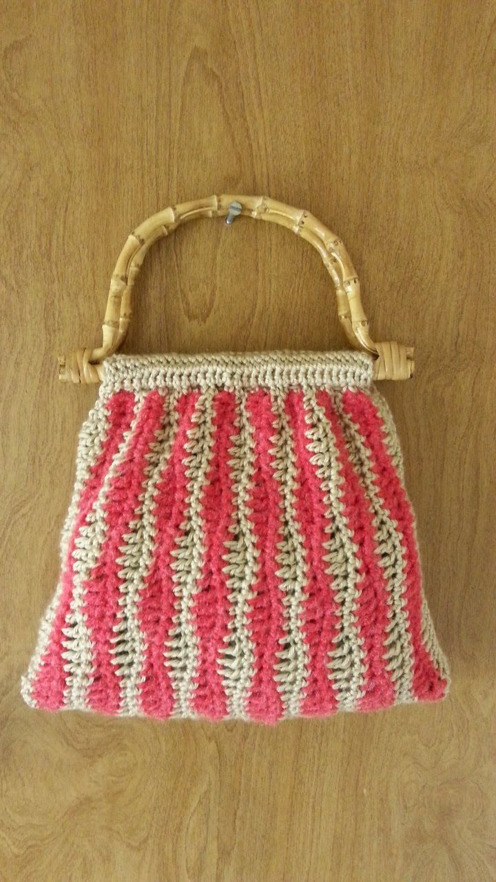 #Crochet Wavy Stitch Handbag Purse #TUTORIAL