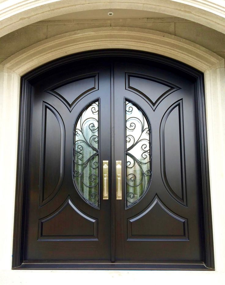 Luxury Mahogany Double Entry Doors