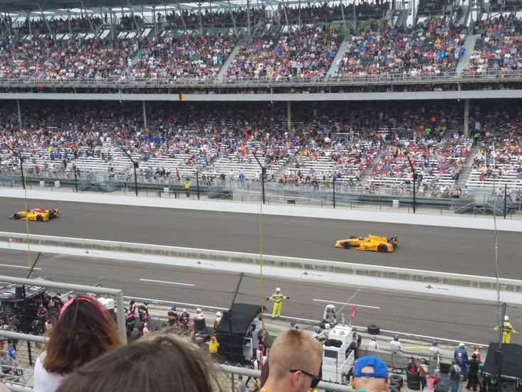 Alonso at the Indianapolis 500 mile race