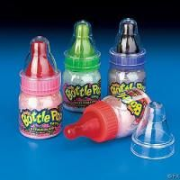 Baby Bottle Pop! It's a baby bottle pop? Just lick the pop dip it and shake it, and like it again! Baby bottle pop!
