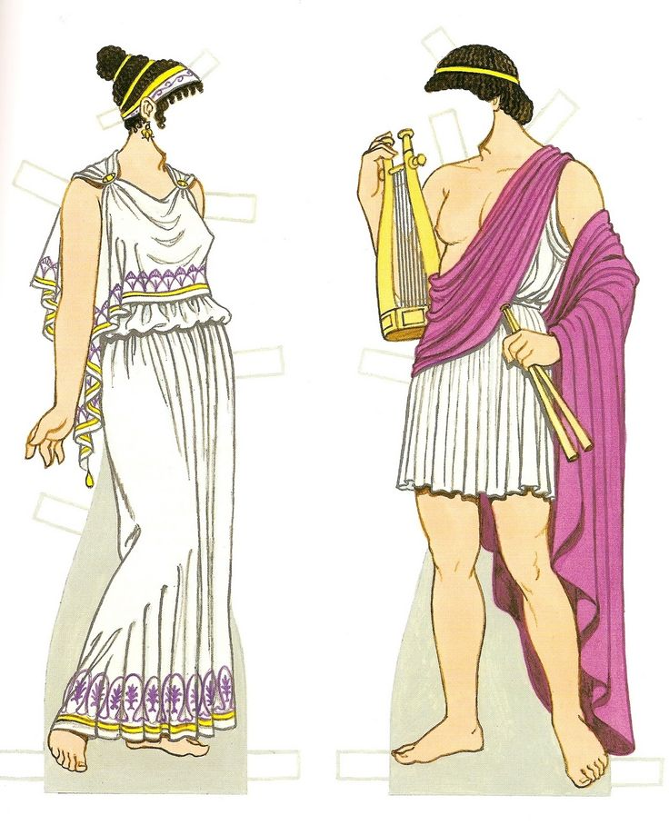 Ancient Greek Costumes Paper Dolls: History of Costume ...