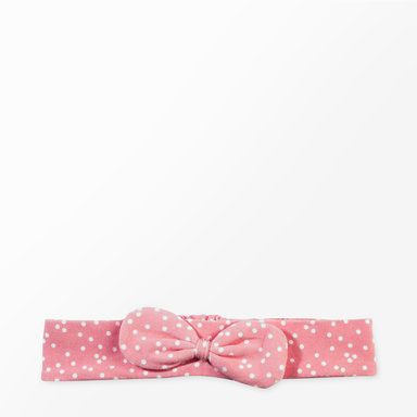 Hårband med rosett, rosa