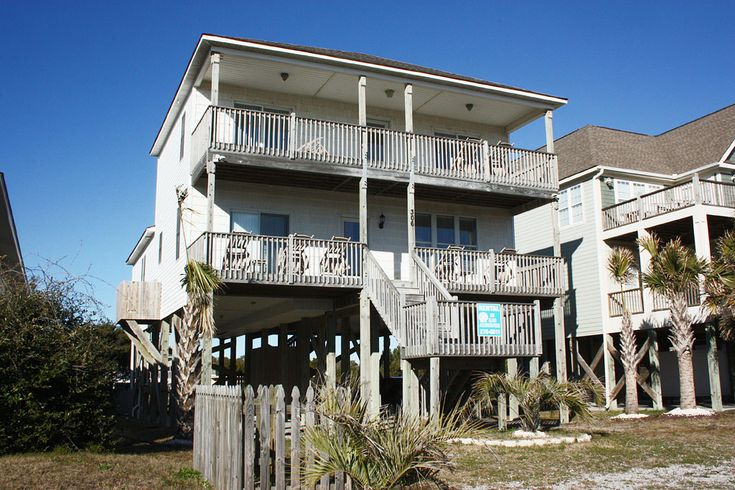 Dolphins View is a 4 bedroom, 4 bathroom Oceanview vacation rental in Oak Island, NC.