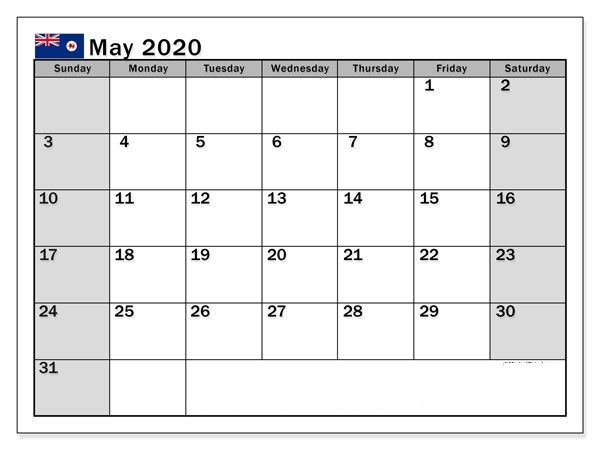 May 2020 Calendar With Holidays Usa Uk Canada India