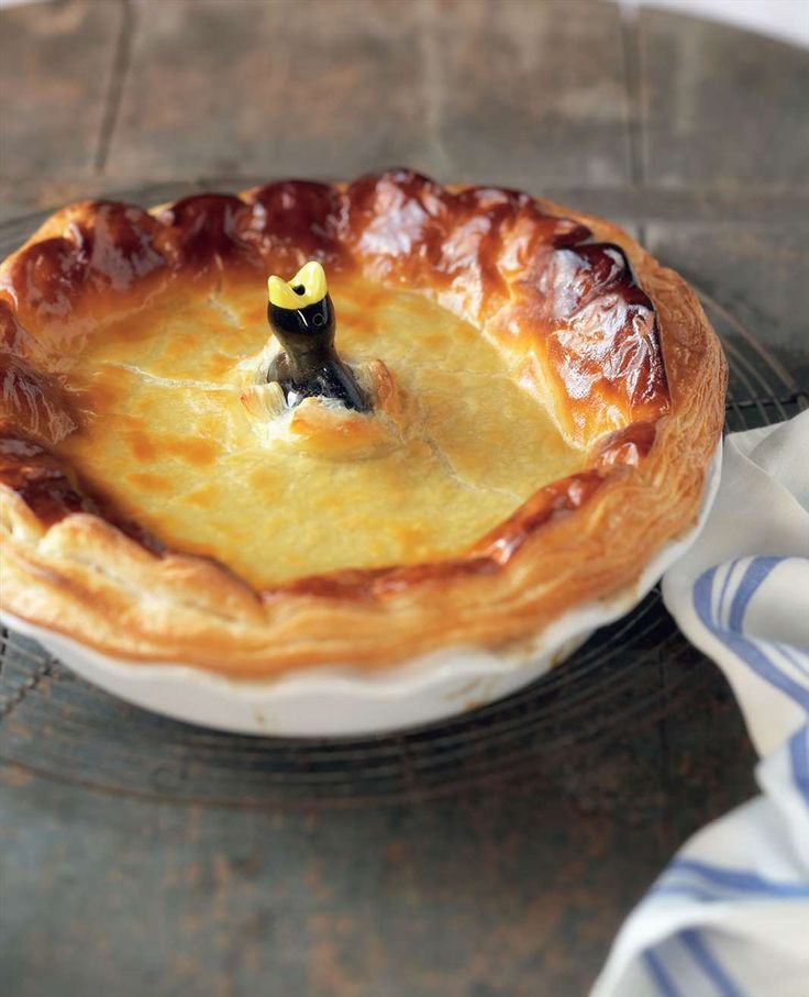 Family-size chicken, leek and mushroom pie by Adrian Richardson from Meat | Cooked