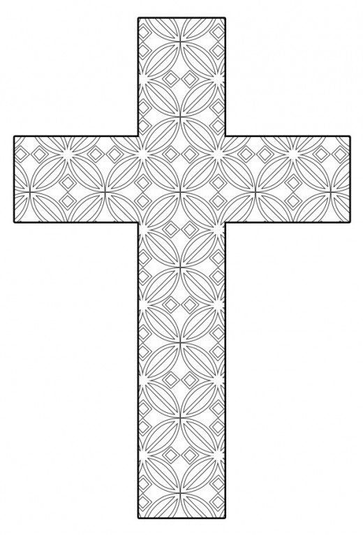 Free printable cross coloring pages color pinterest for Christian crafts for adults