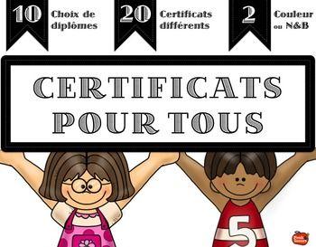 Certificats pour tous / Diplômes de reconnaissance