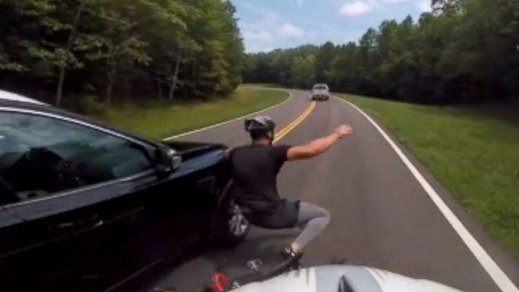GoPro video captures moment educator clips cyclist in hit-and-run