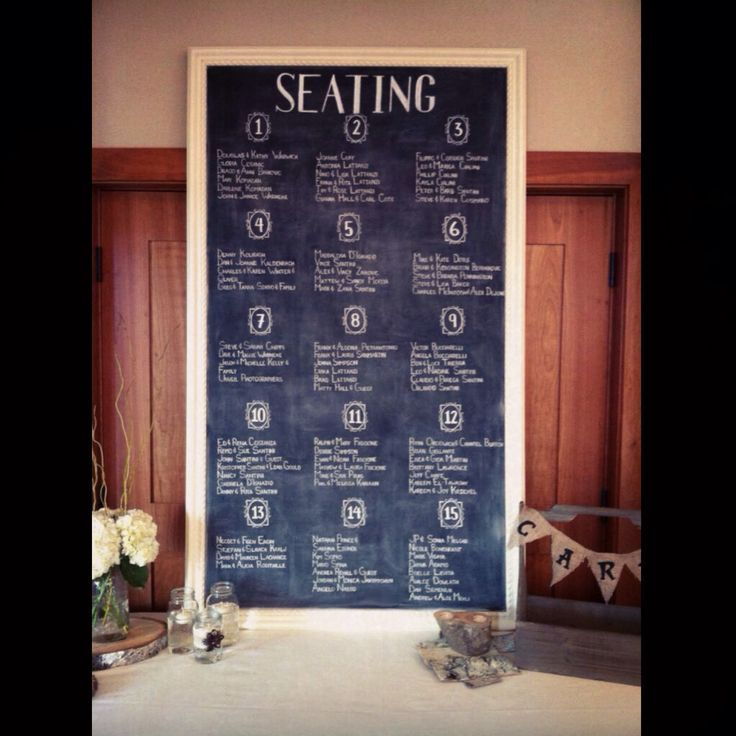 Seating Plan by Dayna Vago Designs
