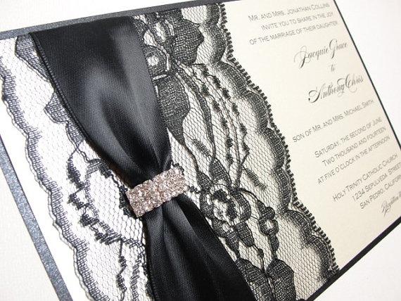 elegant lace invitations