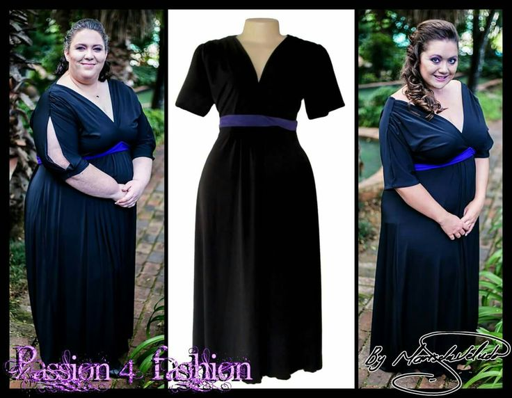 Black and purple bridesmaid dress with a gathered shoulder design and an open sleeve effect. With a V neckline and a twisted purple belt. #mariselaveludo #fashion #bridesmaiddress #blackdress #blackandpurpledress #weddingretinue #wedding #eveningdress