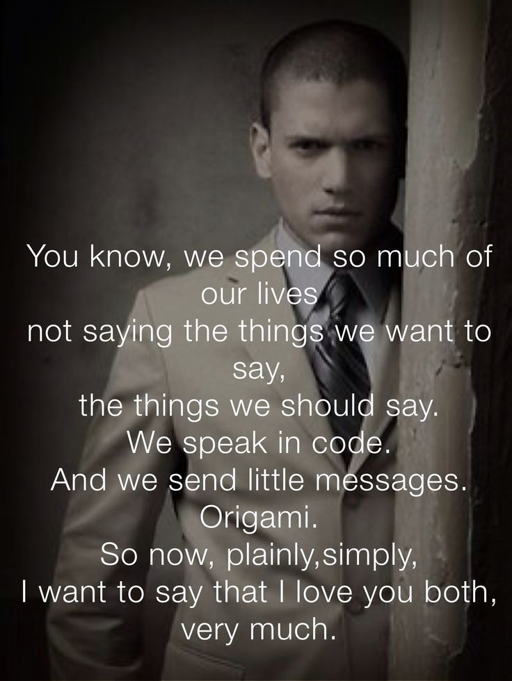 Michael Scofield. Saddest part of prison break by far. I love you Wentworth Miller