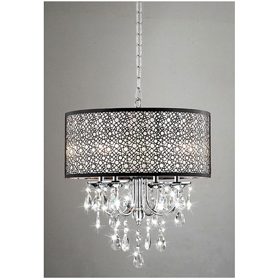 Shaded Crystal Chandelier