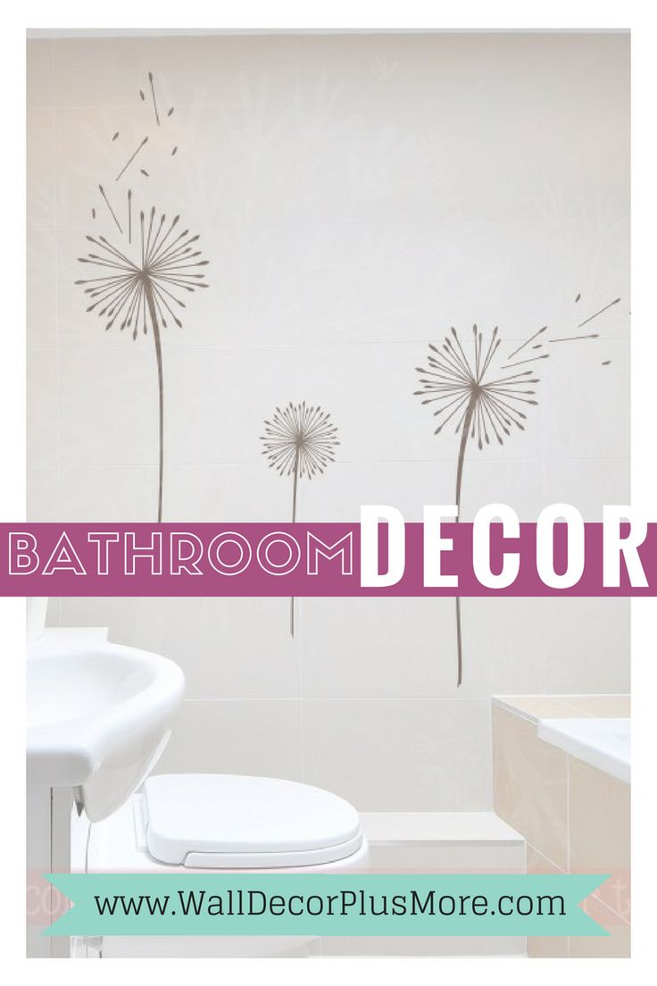 65 best Bathroom images on Pinterest | Wall decal, Bath room decor ...