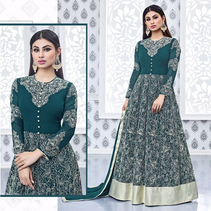 Ethnic Anarkali Salwar Kameez Indian Pakistani Bollywood Designer Wedding Dress #Shoppingover #SalwarKameez