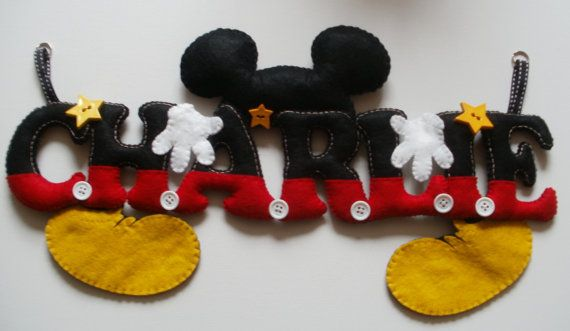 Mickey Mouse themed name chain or could be by StitchGeekBoutique, £12.00