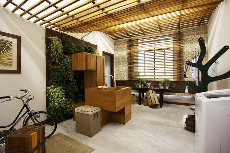 Profissionais do CasaPRO   LAVANDERIA   projetado por Letícia Wassali, arquiteta, para a mostra Campinas Decor
