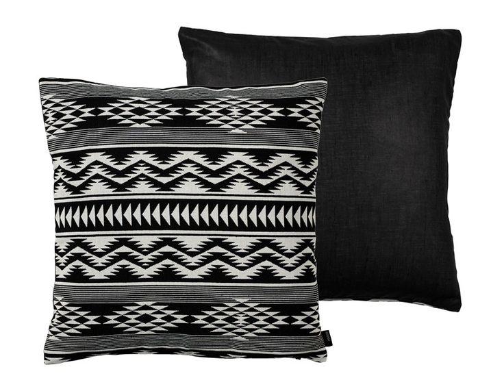 Kelim Weave pude / kelim pillow black White 50x50