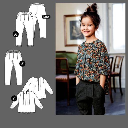 Bukse og bluse