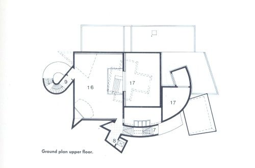 Upper Ground Floor Plan : Vitra Design Museum, Weil am Rhein, Germany (1989) | Frank Gehry