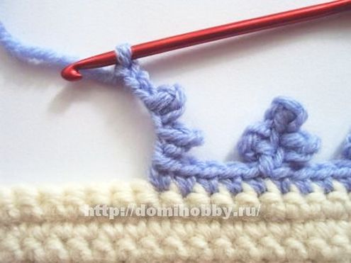 Picot edge, crochet blanket (photo source: domi hobby) | Happy in Red