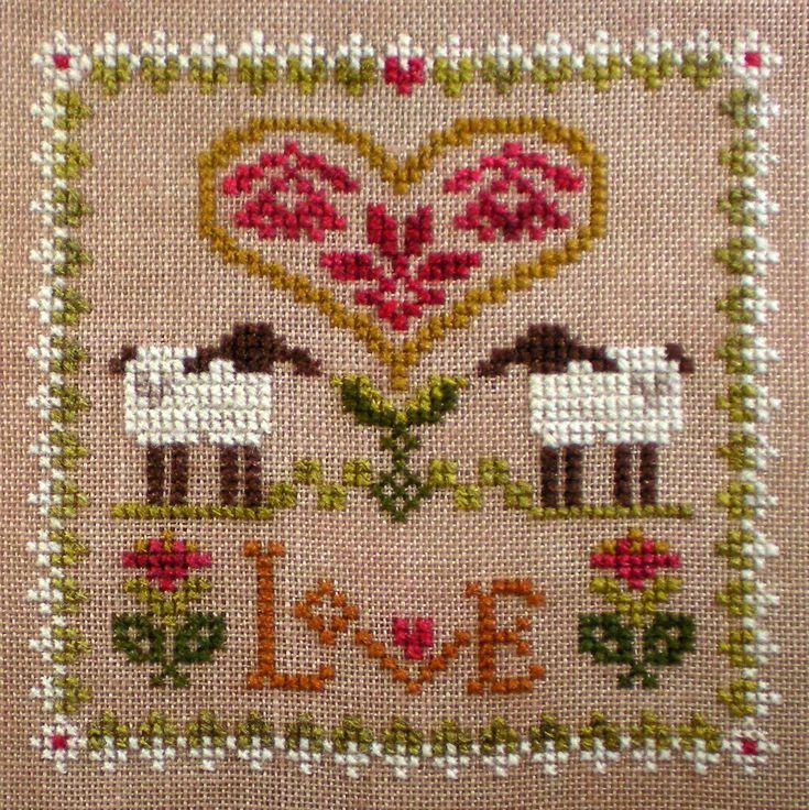 LHN Sheep Virtues using Dragonflylotus Hand Spun Threads