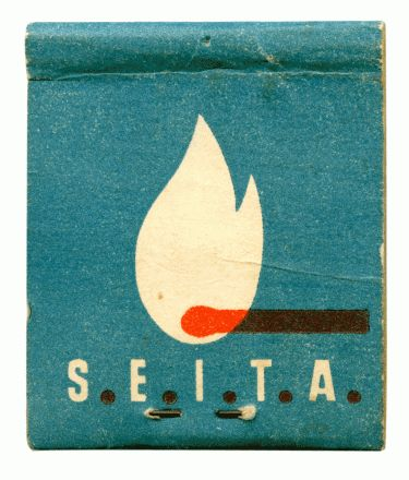 I have a small collection of old match books. They have some really lovely graphics on them.