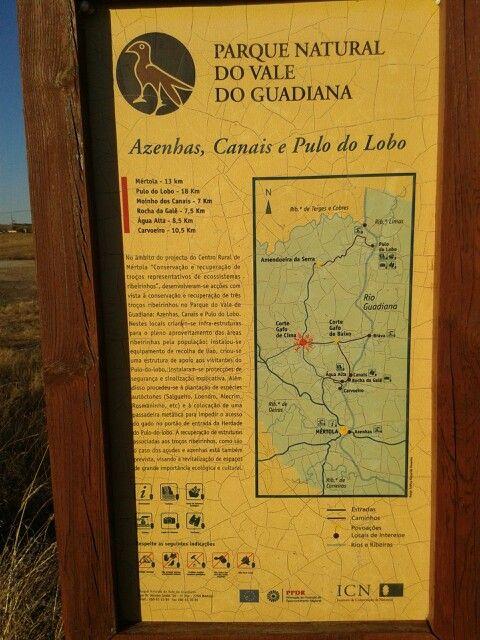 Mapa do parque.