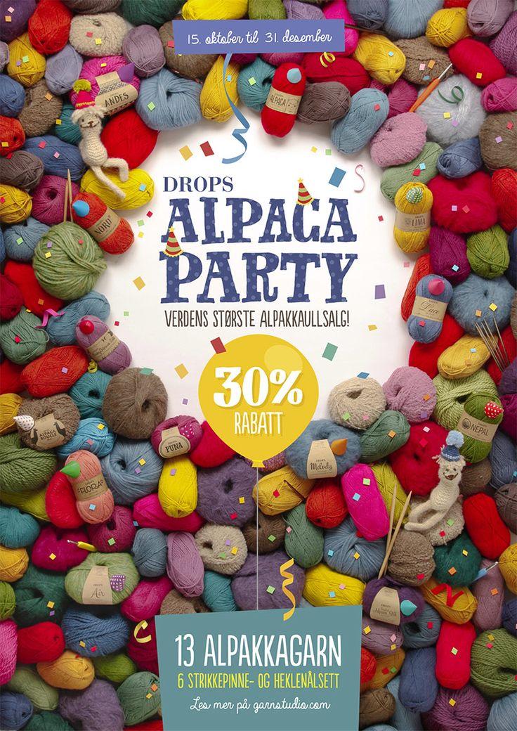 """Balade - Stripete DROPS skjerf i """"Delight"""" og """"Alpaca"""" strikket fra side til side - Free pattern by DROPS Design"""