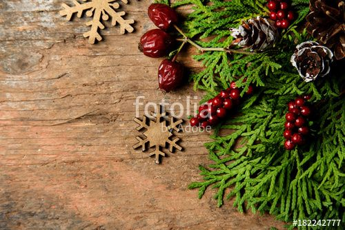 """Download the royalty-free photo """"Rustic Christmas background  """" created by stillforstyle at the lowest price on Fotolia.com. Browse our cheap image bank online to find the perfect stock photo for your marketing projects!"""