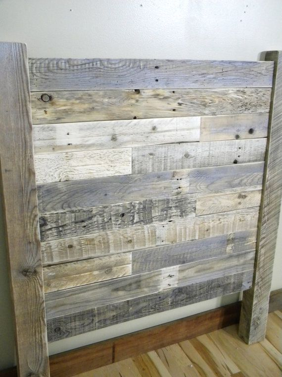 Wood Headboard Reclaimed Wood Twin Headboard Queen Headboard Rustic Furniture Beach Decor