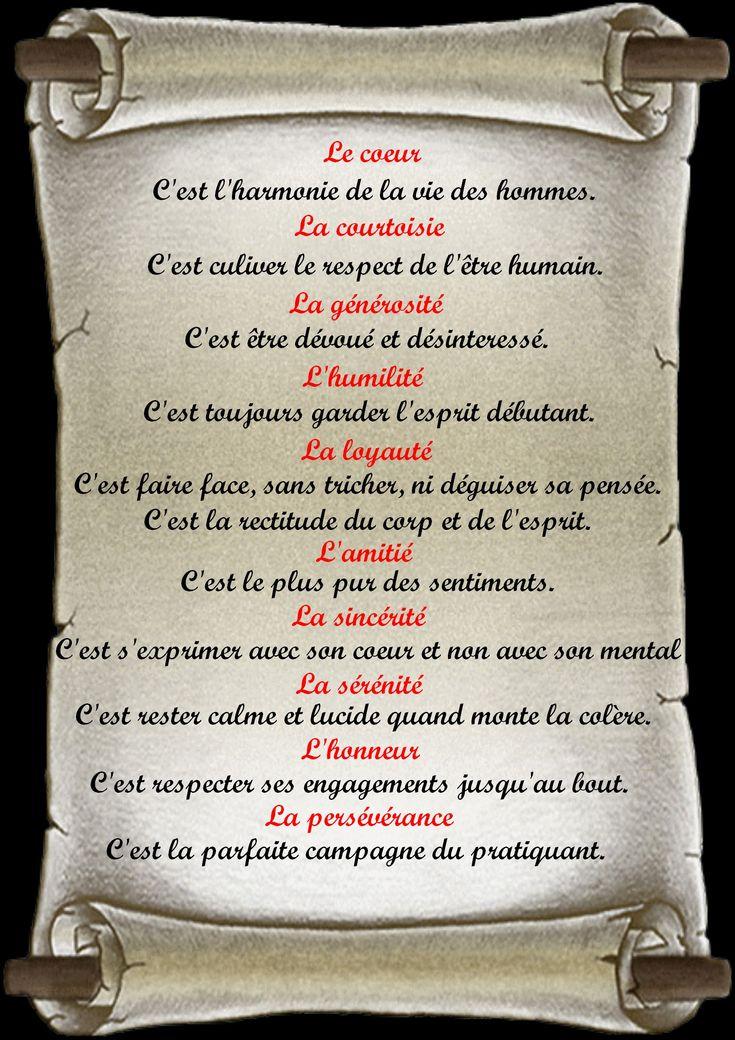 Code Moral du Karatéka