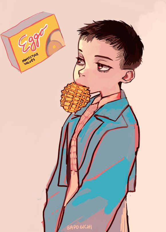 """eggo"" - eleven from stranger things art"