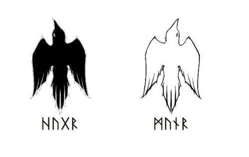 Pics For > Huginn And Muninn Runes
