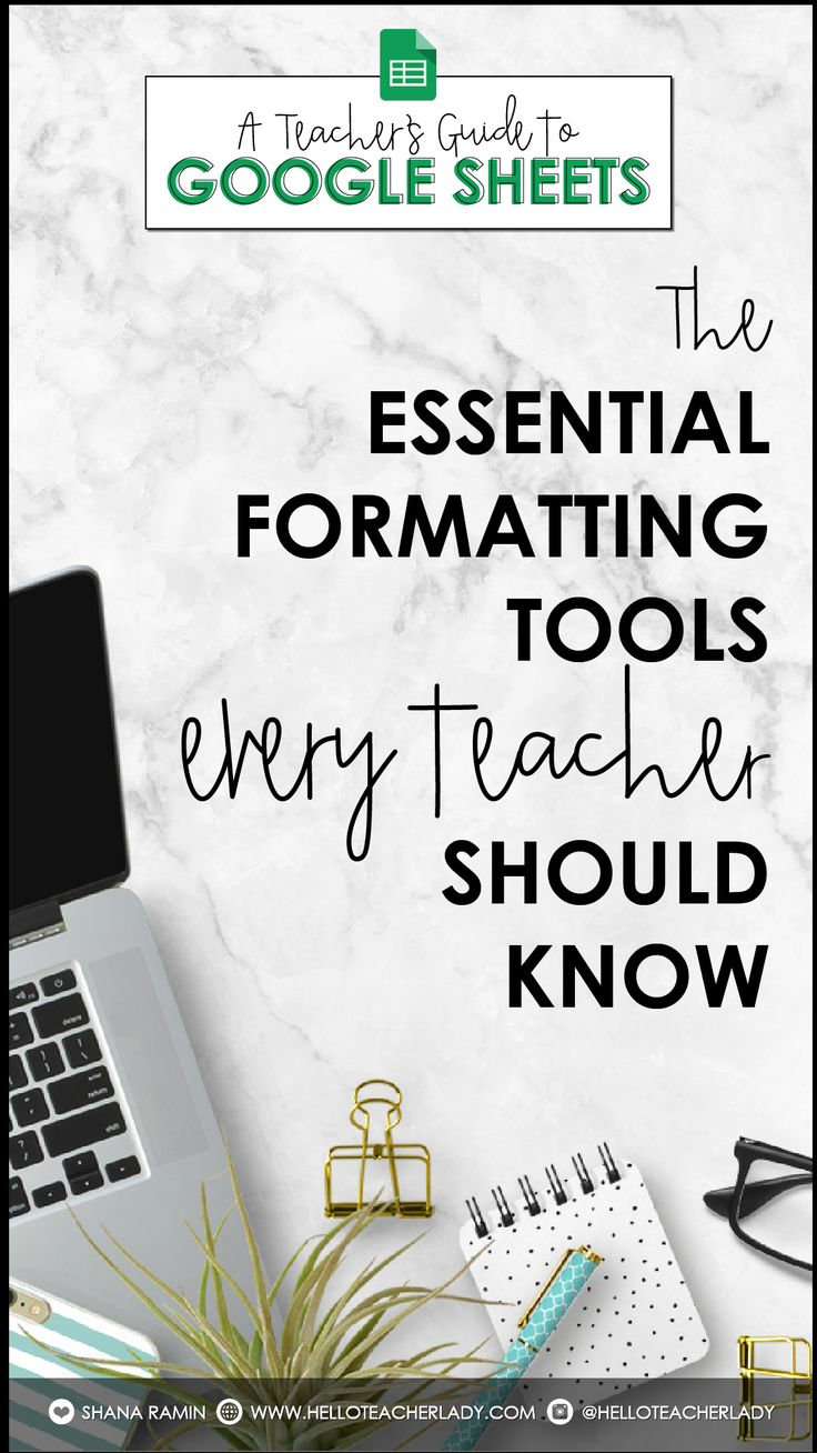 Study the important thing formatting instruments in Google Sheets that EVERY TEACHER ought to know  …