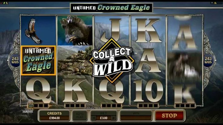 Untamed Crown Eagle slot game - Euro Palace