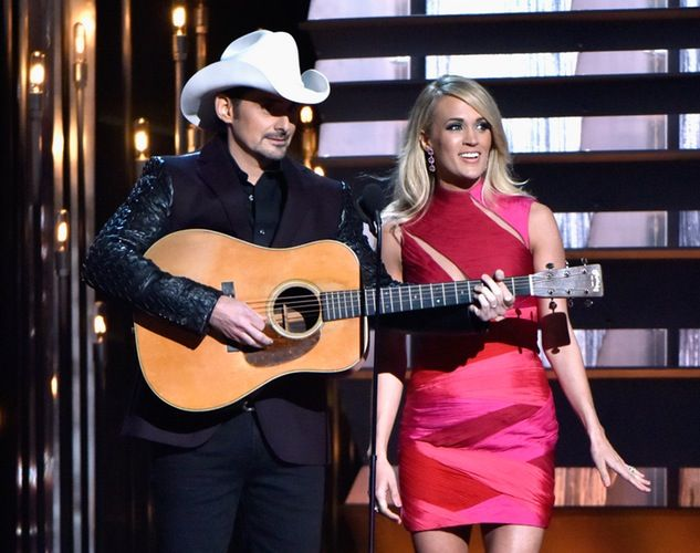 VIDEO: Watch Carrie Underwood and Brad Paisley Joke About Blake Shelton and Miranda Lambert's Divorce at the CMAs!