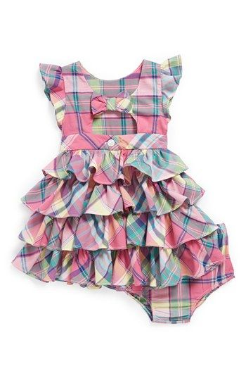 Ralph Lauren Plaid Dress & Bloomers (Baby Girls) | Nordstrom