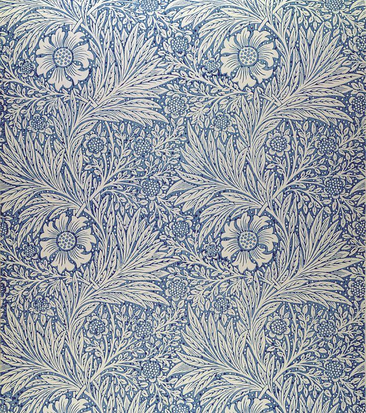 """""""Marigold"""" wallpaper design, William Morris, 1875"""