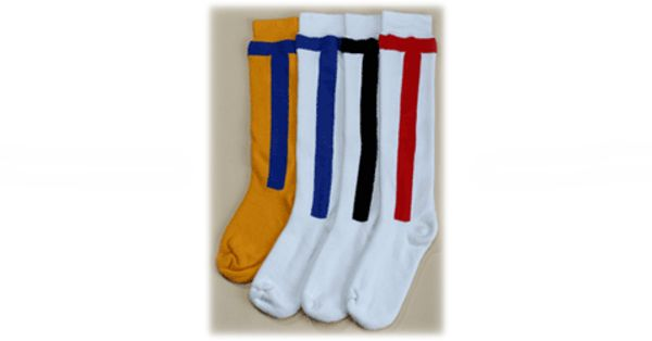Baseball Socks - Queensland Hosiery Mill Baseball Socks are available plain or with stripes and/or logo. Full Terry Foot is Standard however Non or Half Terry is available on request. Sports Socks are Cotton and Nylon blend (cotton rich – between 60% & 80%) with percentages depend on how much cushioning and size of the logo which is 100% nylon. These Baseball Socks are available as long leg, to the knee.
