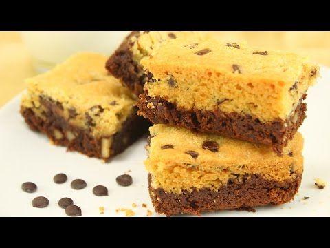 Brookies | Brownies mit knuspriger Cookie - Kruste | Crownies - YouTube