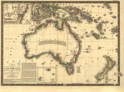Antique map of Australia 1826