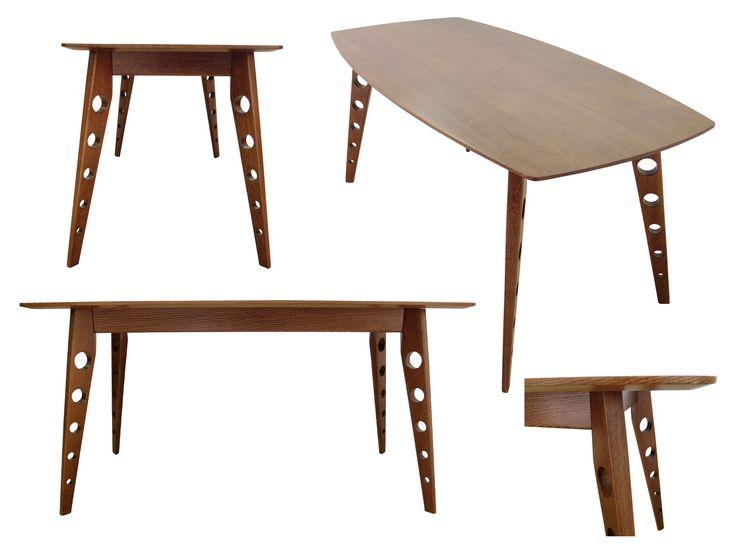 Stół (do jadalni) Hieron, lite drewno (dąb) / Esstisch (aus Massivholz - Eichenholz) Hieron