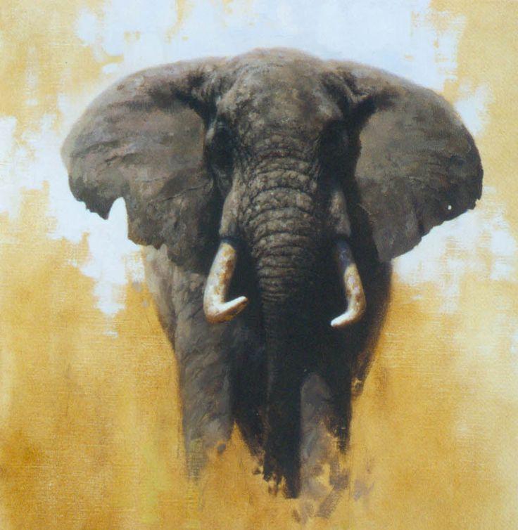 Meer dan 1000 idee n over olifant schilderijen op for Schilderij olifant