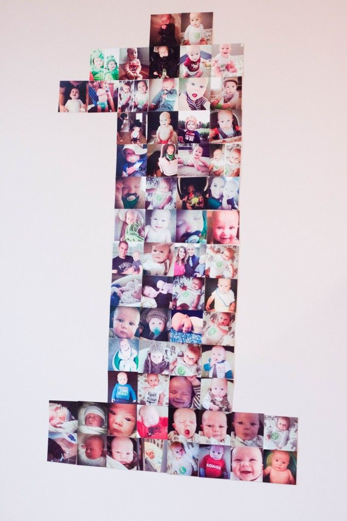 Instagram Photo Display First Birthday. I love this idea! We definitely have enough photos.