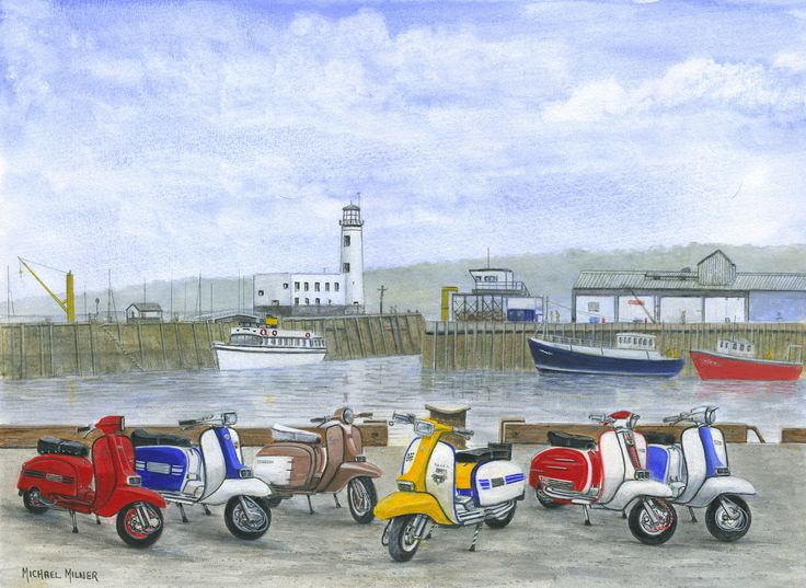 """006MM047 - The Italian Job visits Scarborough - 16"""" x 12"""" Print Only £12.99 9.5"""" x 6.5"""" Mounted to 14"""" x 11"""" - £12.99"""