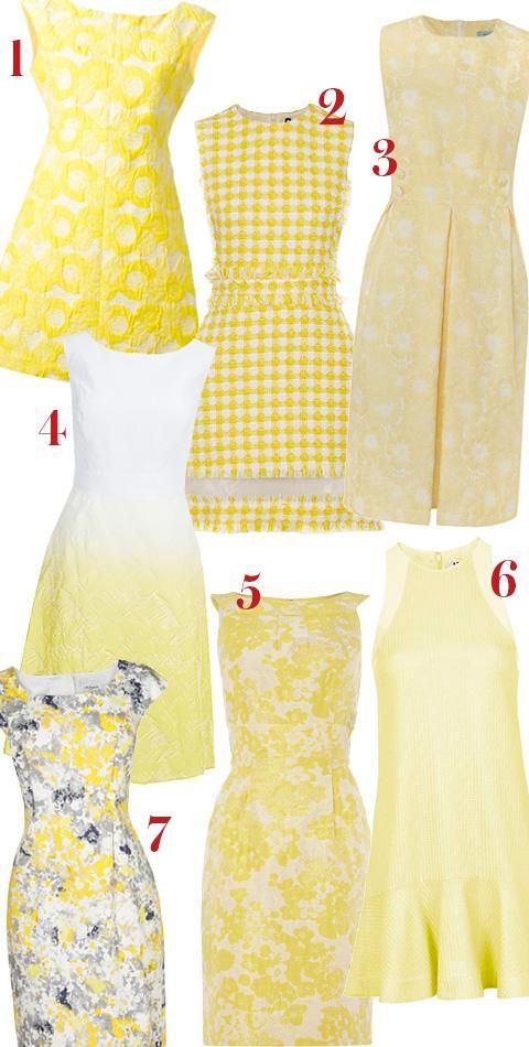 Shop yellow-and-white dresses inspired by Princess Kate's style.