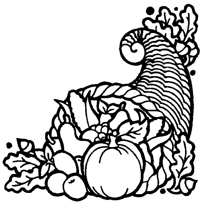 These Free Printable Thanksgiving Cornucopia Coloring Pages Are Fun For Kids During The Holiday Season