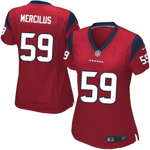 Nike Elite Womens Houston Texans #59 Whitney Mercilus Alternate Red NFL Jersey  $109.99