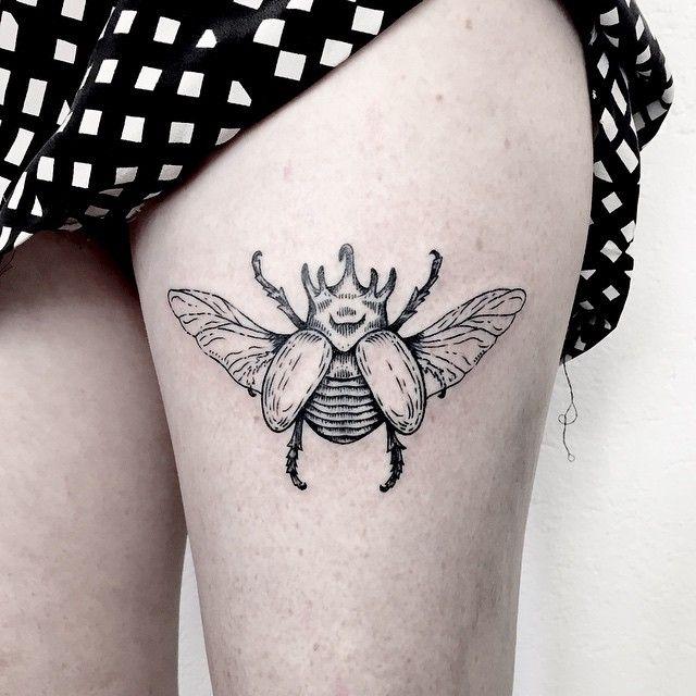 Caitlin Thomas @lucidlines rhino beetle for ...Instagram photo | Websta (Webstagram)